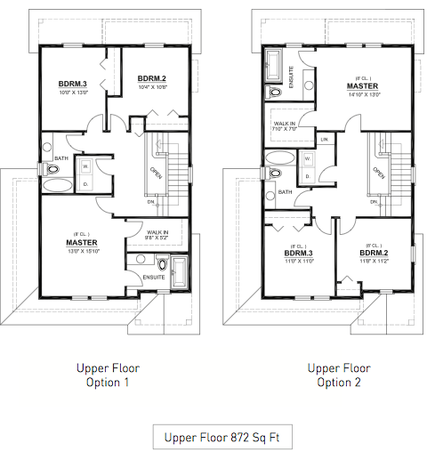 Sombrio Upper Floor Plans