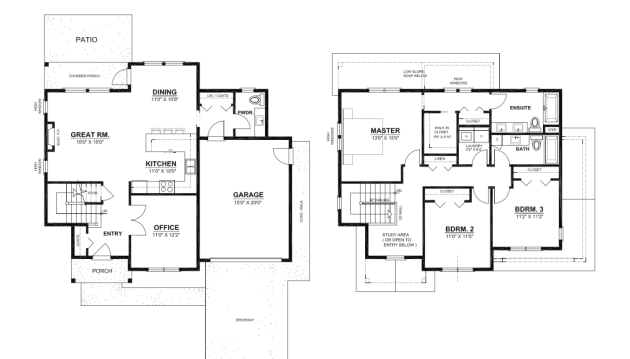 Chestatee river cottage house plan house plans by garrell for Award winning floor plans
