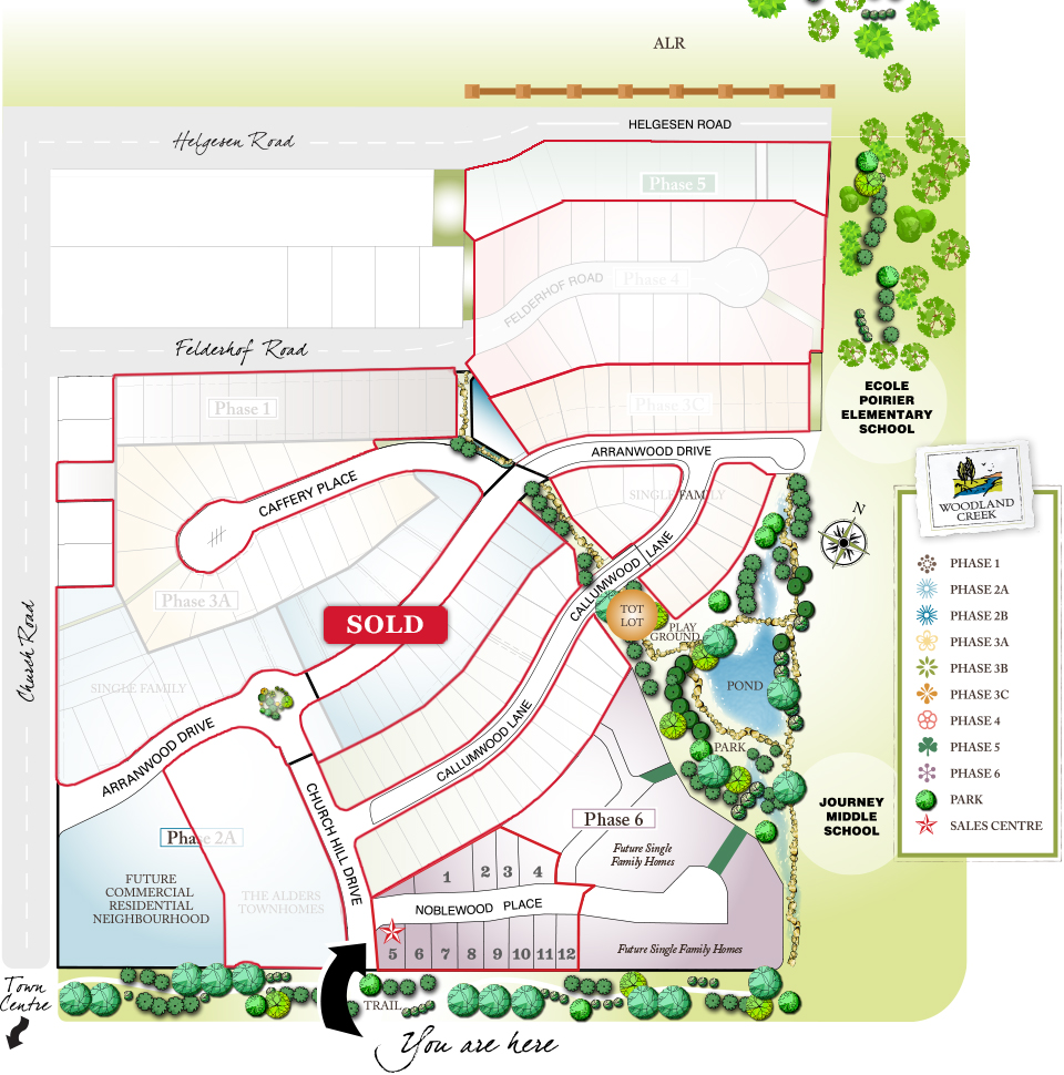 Woodland Creek Project Siteplan
